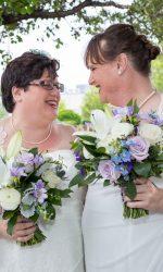 Queer Wedding, Queer Weddings, Boston Spirit Magazine, Somerville Wedding, friends and family wedding, Boston Weddings, Simple and Elegant Wedding, Indoor Wedding