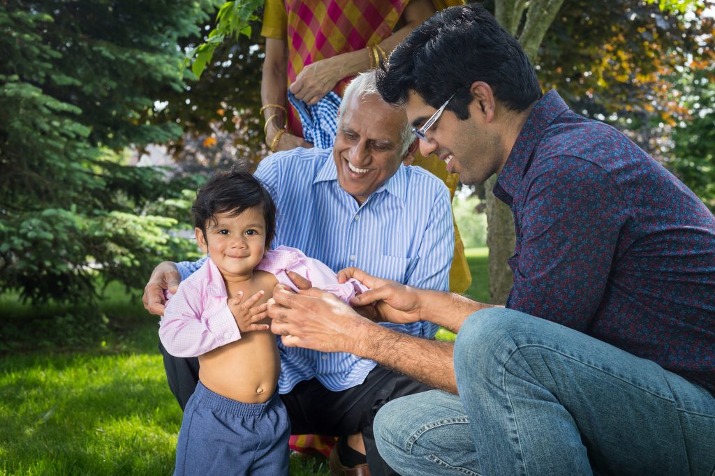 Satya & Srikanth, and Raj Family Portraits