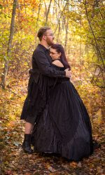 Outdoor wedding, Small Wedding, Intimate Wedding, Goth Wedding, Salem Wedding, Salem MA Wedding, Natural Light Wedding, Natural Light Photography