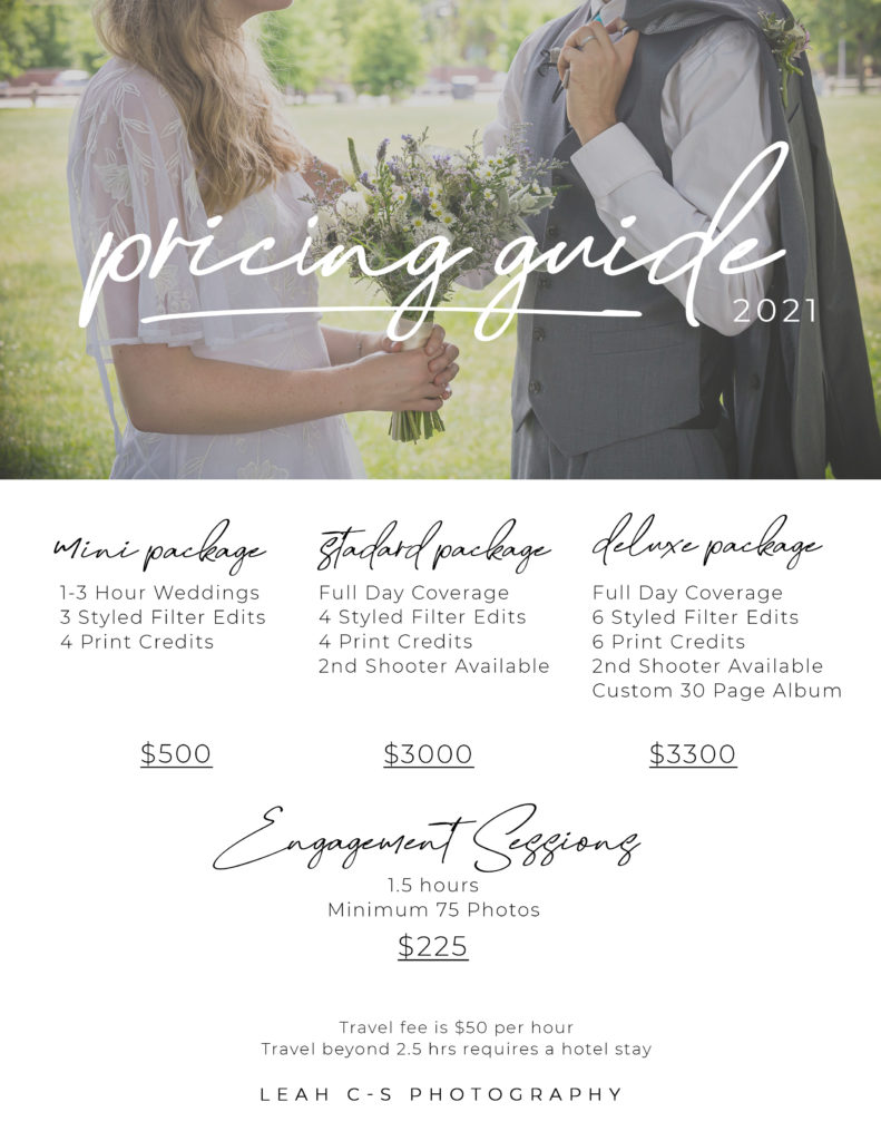 New Wedding Packages!
